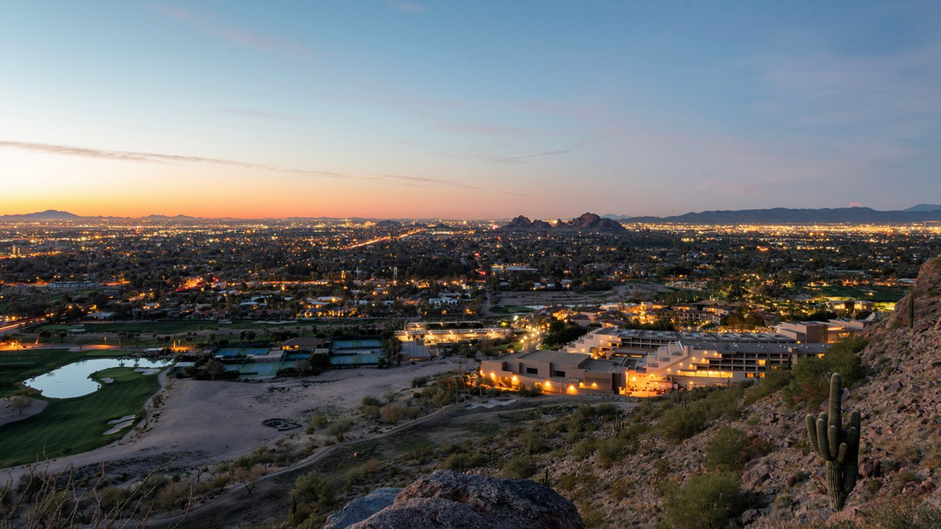 The city lights of Scottsdale and beyond.