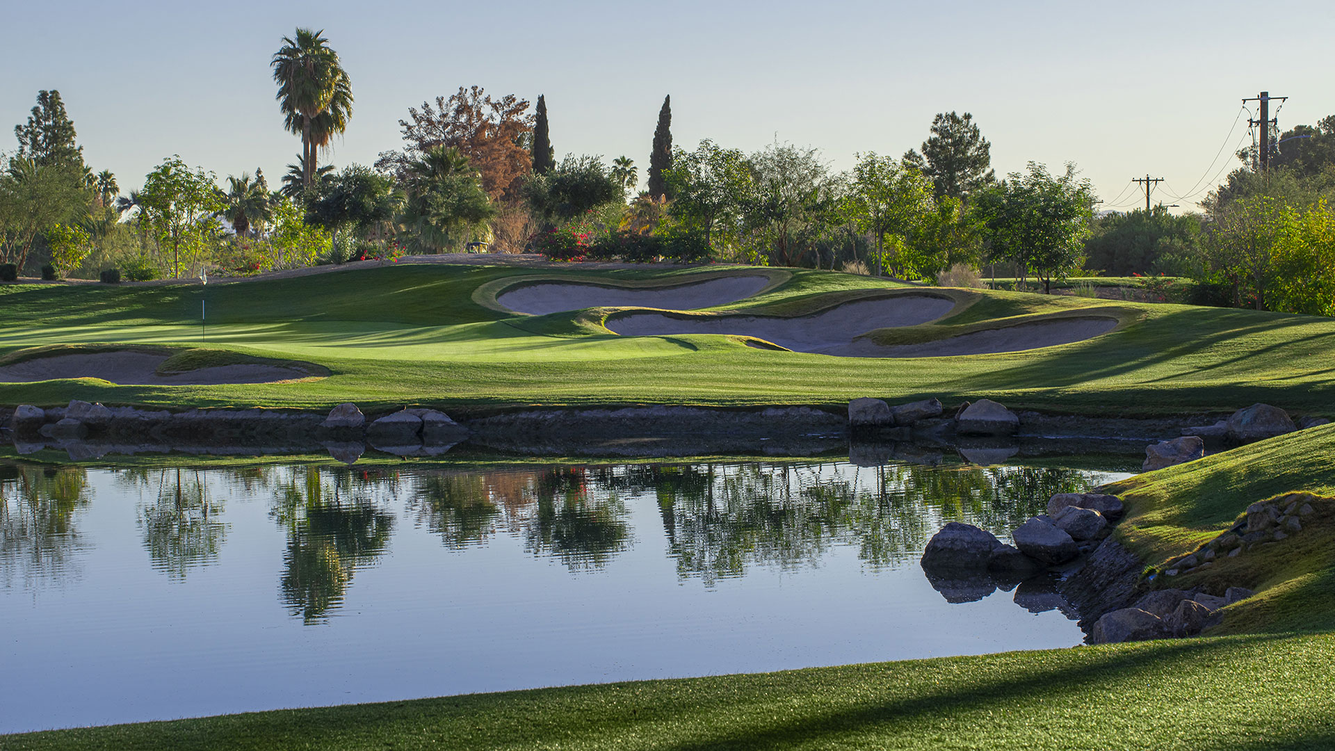 The scenic Phoenician<sup>®</sup> Golf Course surrounds the community.